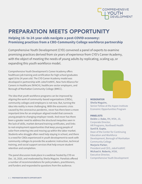 Click to read Preparation Meets Opportunity Report