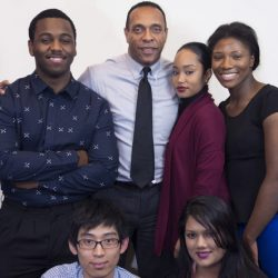 Michael Roberts with CDI students and alumni