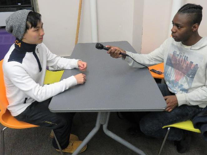 student radio interview