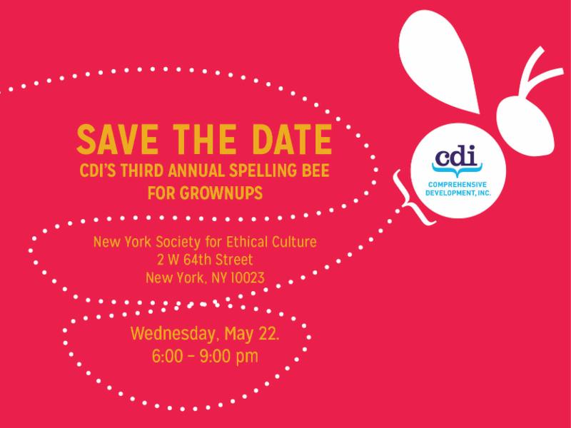 save the date for 2019 spelling bee event